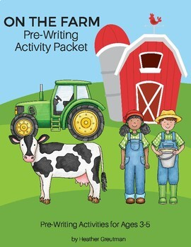 On The Farm Pre-Writing Packet