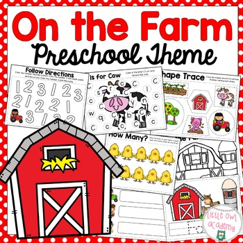 On The Farm Preschool and Early Learning Packet