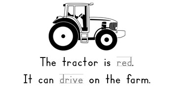 On The Farm Sight Word Book - Actions and Colors