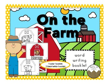On The Farm- Word Writing Booklet- NO PREP!
