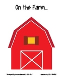 On The Farm- book with manipulatives