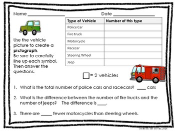 On The Go Bar Graph and Pictograph Activity