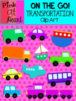 On The Go - Transportation Clip Art