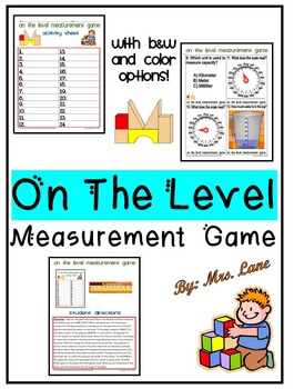 On The Level Measurement Game