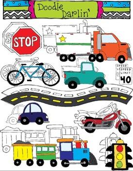 On The Move Land Transportation COMBO Set