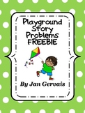 On The Playground Story Problems FREEBIE