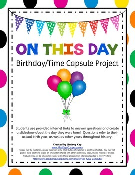 'On This Day' - Birthday/Time Capsule Computer Project