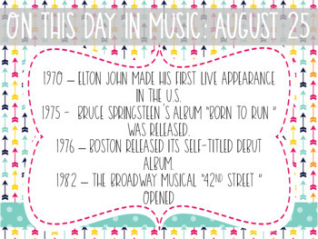 On This Day In Music History - August