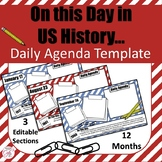 On This Day In US History - Daily Agenda