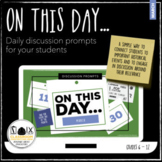 On This Day in History...March Daily Warm Up Bell Ringer Distance Learning