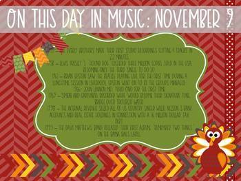 On This Day in Music History November