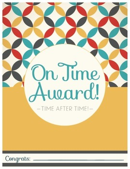 On Time Award - 1970's Style