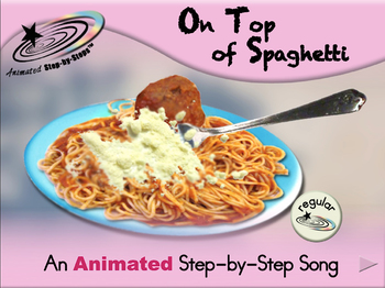 On Top of Spaghetti - Animated Step-by-Step Song - Regular