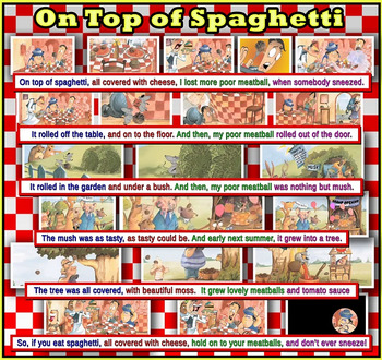 """On Top of Spaghetti """"Song Poster"""""""
