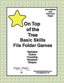 On Top of the Tree Basic Skill File Folder Games