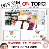 Social Language On Topic Packet for Speech Therapy