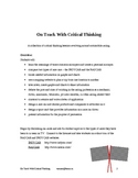 On Track With Critical Thinking