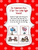 On Valentine's Day, I Spy Tiny Little Sight Words