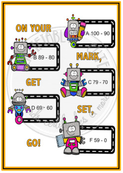 On Your Mark Get Set Go! Grade Chart