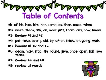 On Your Mark, Get Set, READ! Reading Homework Dolch Words: First Grade Edition