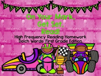 On Your Mark, Get Set, READ! Reading Homework Dolch Words: