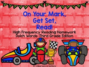 On Your Mark, Get Set, READ!  Reading Homework Dolch Words