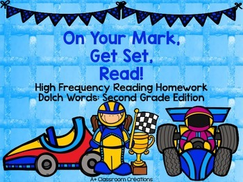 On Your Mark, Get Set, Read! Reading Homework Dolch Words: Second Grade Edition