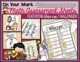 Math Assessment Activity Sheets for Student Data/ RTI