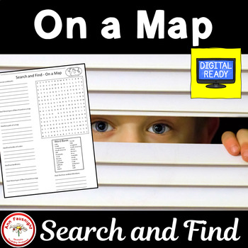 On a Map - Word Search