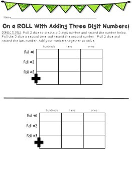 On a ROLL with 3-digit Addition