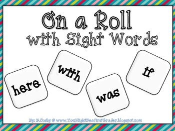On a Roll with Sight Words (Sight Word Graphing)
