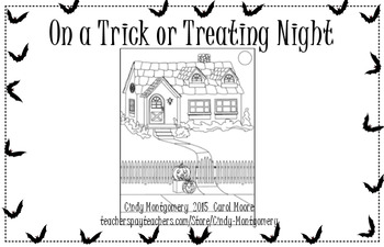 On a Trick or Treating Night l Cute Halloween emergent reader