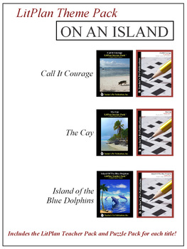 On an Island Novel Unit Theme Pack Bundle