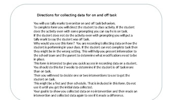 On and Off Task Data Collection
