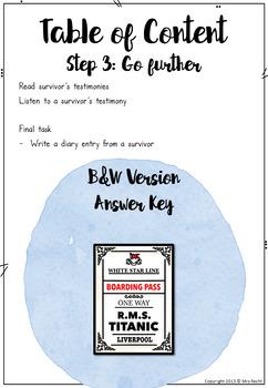 Titanic Activities Project Unit