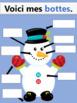 On construit un bonhomme de neige - livre et cartes éclairs (MATERNELLE)