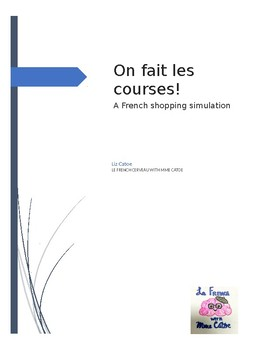 french shopping teaching resources teachers pay teachers