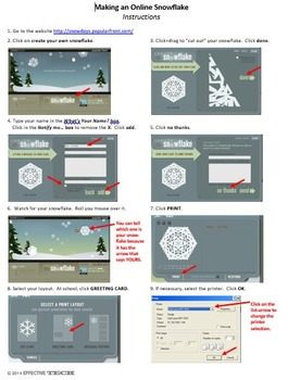 On-line snowflake-maker activity