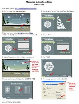 On-line snowflake-maker activity