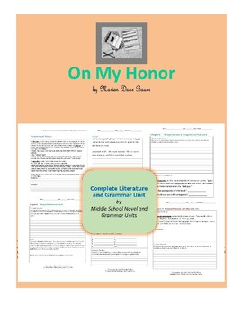 On My Honor Complete Literature and Grammar Unit