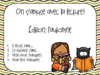 On s'amuse avec la lecture: Édition automne