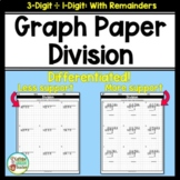 Long Division On Graph Paper: 3 Digits by 1 Digit With Remainders