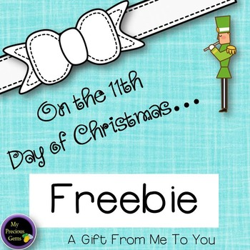 On the 11th Day of Christmas FREEBIE