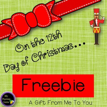 On the 12th Day of Christmas FREEBIE