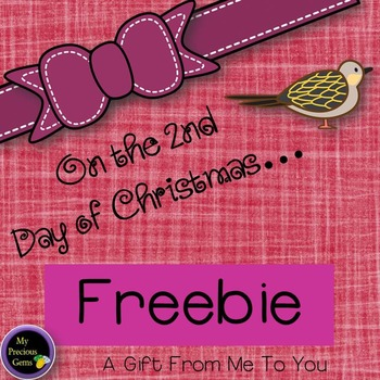 On the 2nd Day of Christmas FREEBIE