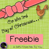 On the 3rd Day of Christmas FREEBIE!