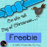 On the 4th Day of Christmas FREEBIE!!