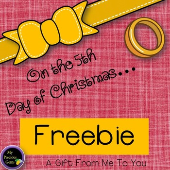On the 5th day of Christmas FREEBIE!!!