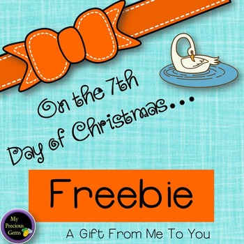 On the 7th Day of Christmas FREEBIE