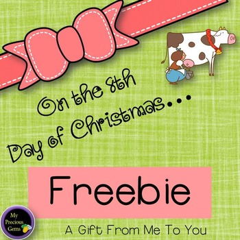 On the 8th Day of Christmas FREEBIE